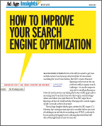 Cover page of Ad Age Insights White Paper: How to Improve Your Search Engine Optimization, by C. J. Newton, Chief Strategy Officer at SEO Logic